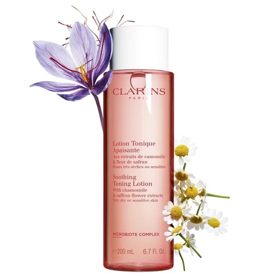 Immagine di CLARINS   Tonico Lenitivo con estratti di camomilla biologica e fiore di zafferano per pelle molto secca o sensibile