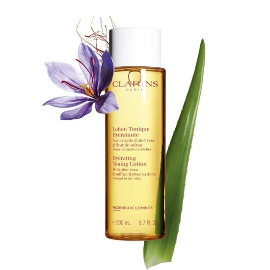 Immagine di CLARINS | Tonico Idratante con estratti di aloe vera e fiore di zafferano per pelle normale o secca