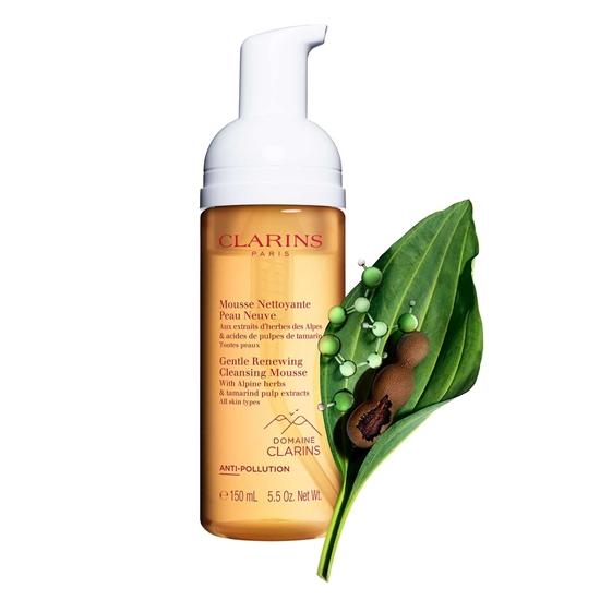 Immagine di CLARINS | Mousse Detergente Rinnovatrice con estratti di erbe delle Alpi e acidi della polpa di tamarindo